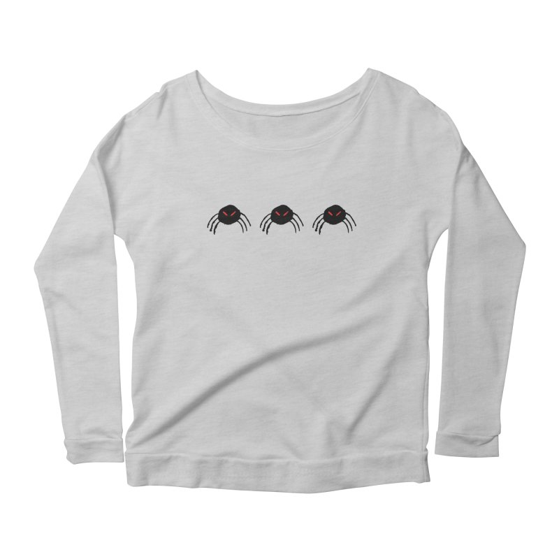 Spiders! Women's Longsleeve Scoopneck  by The Little Fears
