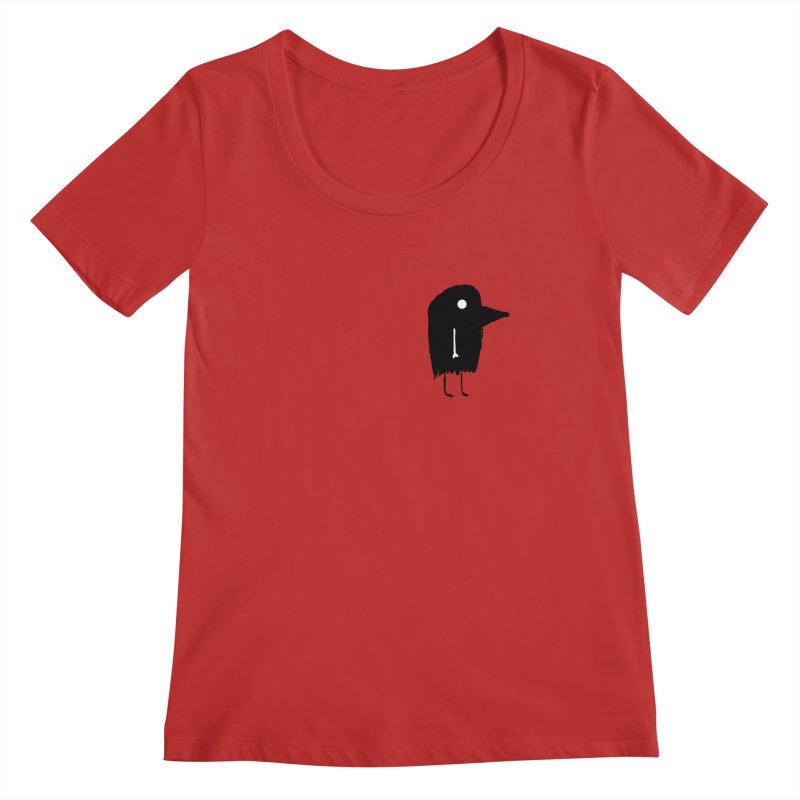 Pocket Fuen Women's Regular Scoop Neck by The Little Fears