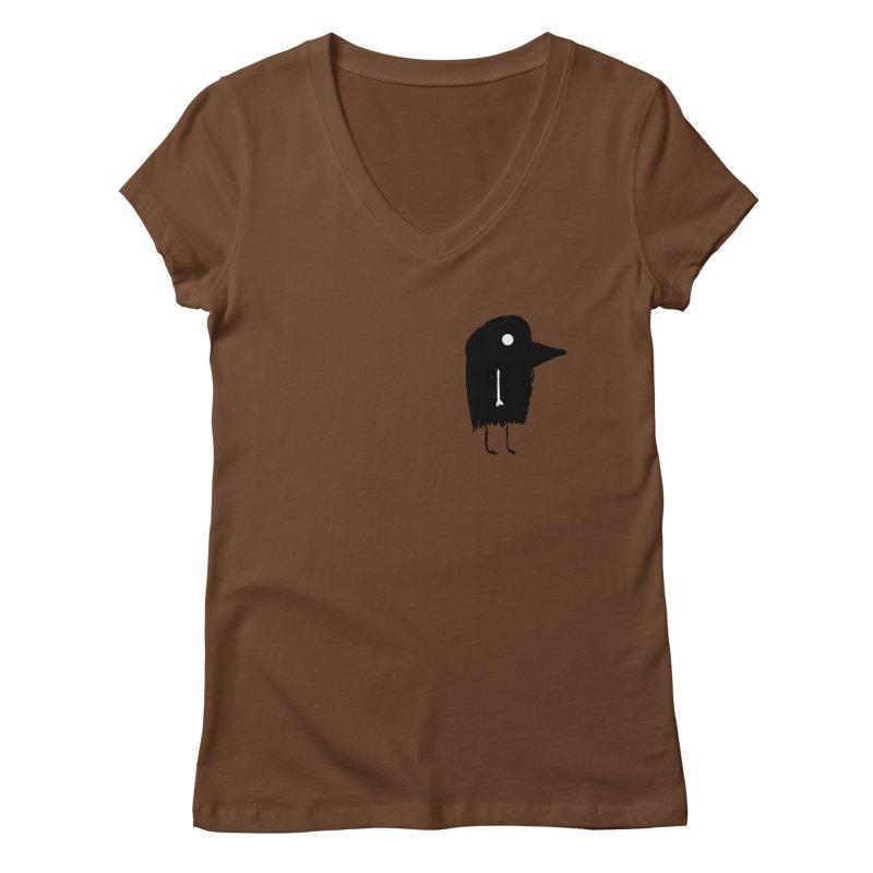 Pocket Fuen Women's Regular V-Neck by The Little Fears