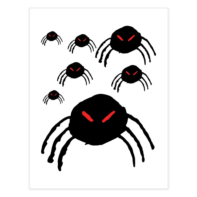 Spider Swarm Home Fine Art Print by The Little Fears