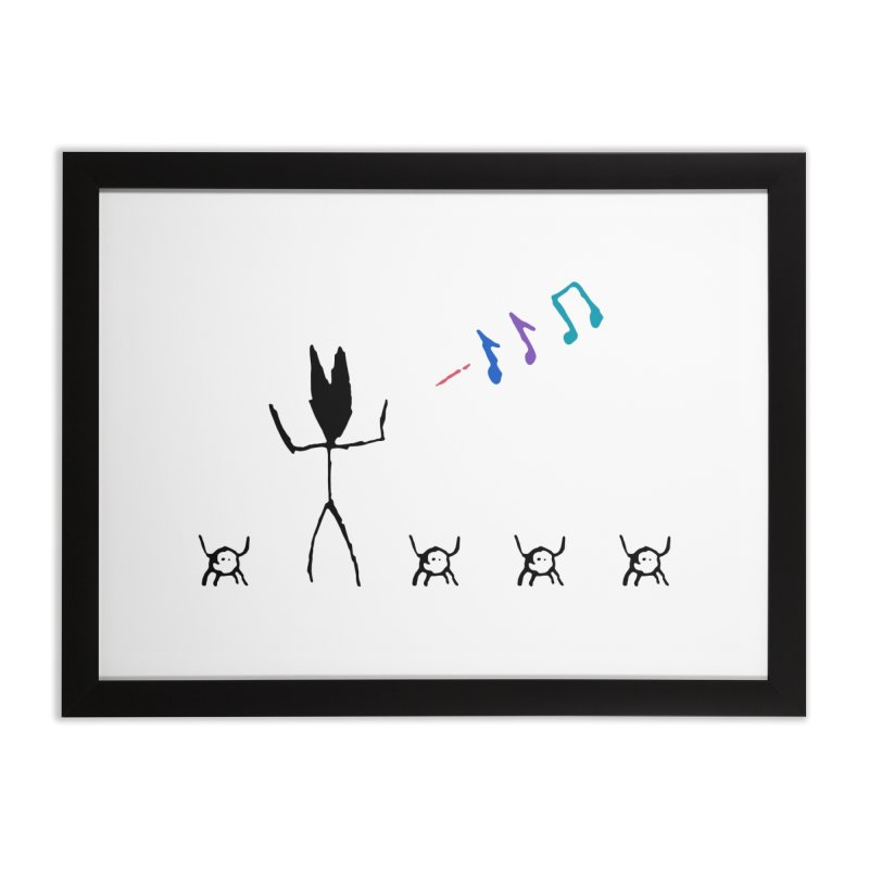 Spider Dance Home Framed Fine Art Print by The Little Fears