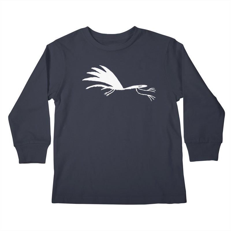 Terror-Dactyl Kids Longsleeve T-Shirt by The Little Fears