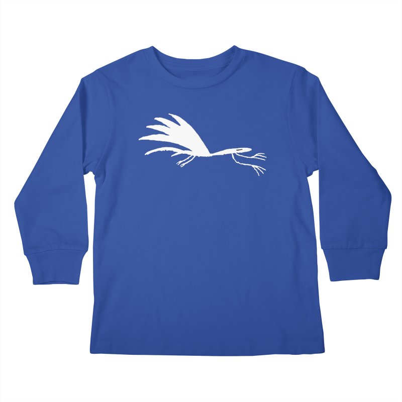Terror-Dactyl Kids Longsleeve T-Shirt by The Little Fears