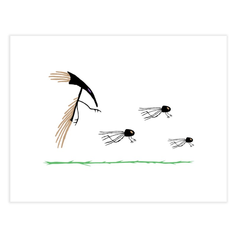 Pigeon Shaman Home Fine Art Print by The Little Fears