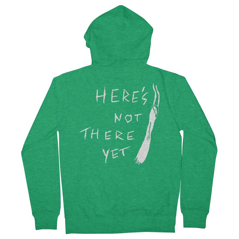 Here's not here yet - Horned Women's French Terry Zip-Up Hoody by The Little Fears