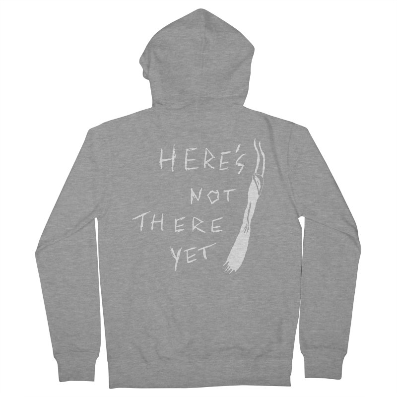 Here's not here yet - Horned Men's French Terry Zip-Up Hoody by The Little Fears