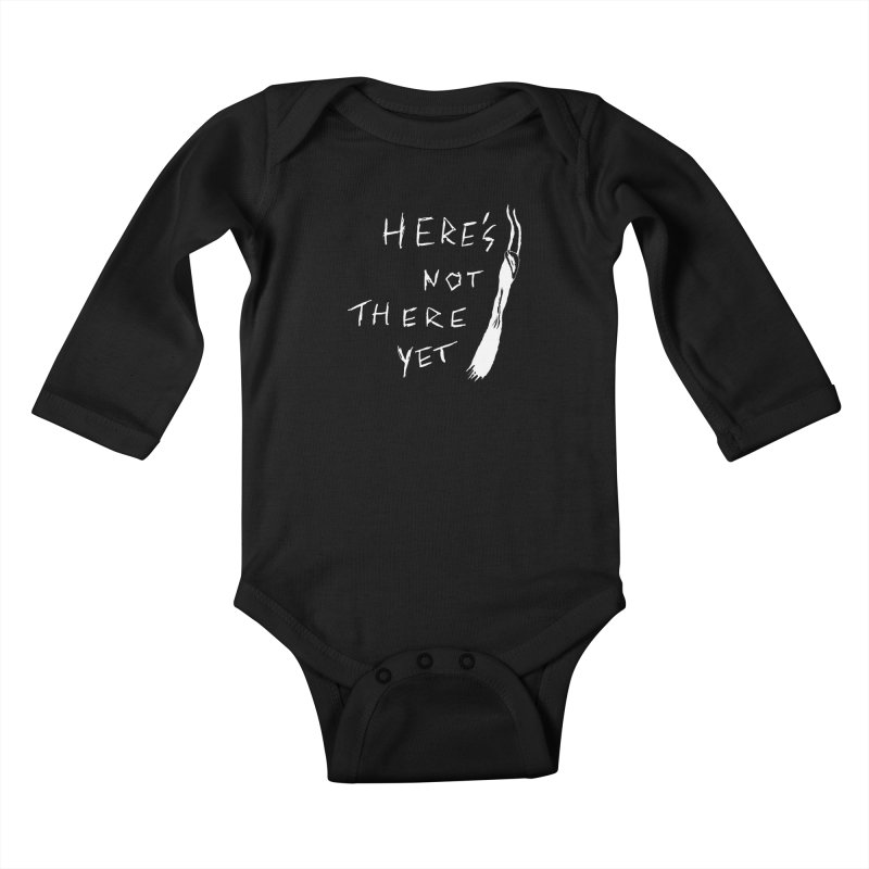 Here's not here yet - Horned Kids Baby Longsleeve Bodysuit by The Little Fears