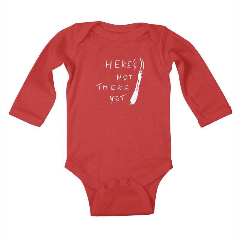 Here's not here yet - Horned Kids Baby Longsleeve Bodysuit by The Little Fears