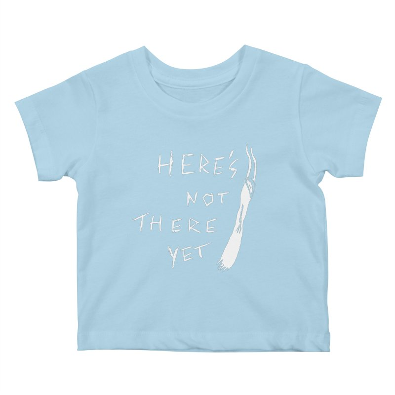 Here's not here yet - Horned Kids Baby T-Shirt by The Little Fears
