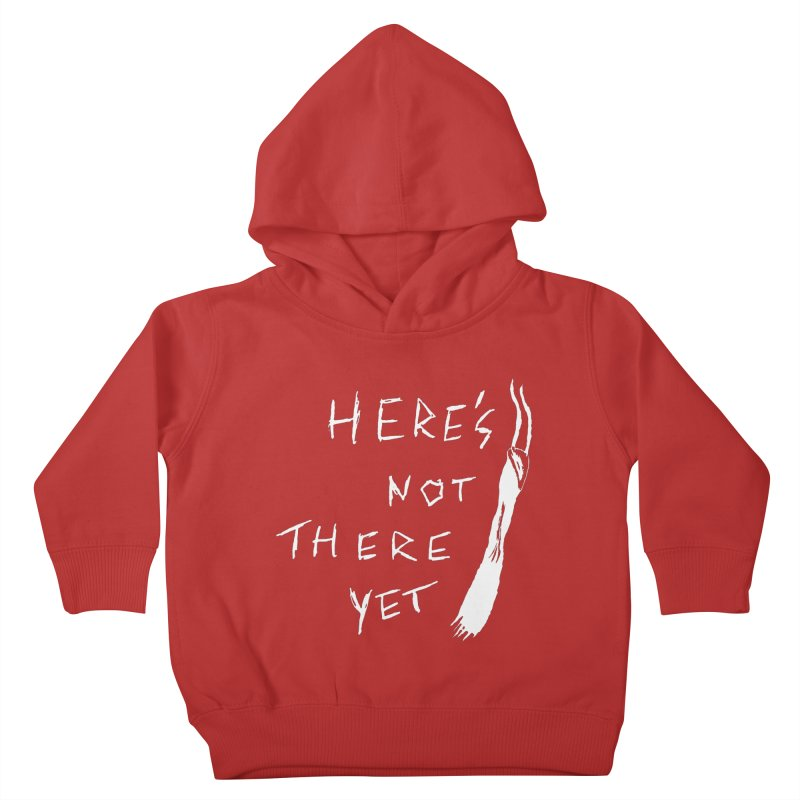 Here's not here yet - Horned Kids Toddler Pullover Hoody by The Little Fears