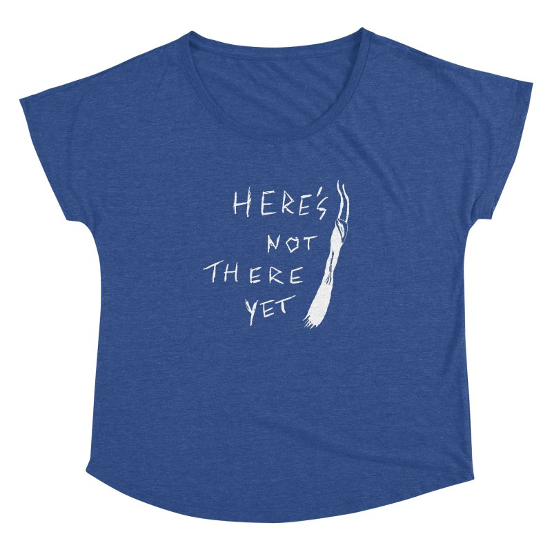 Here's not here yet - Horned Women's Dolman Scoop Neck by The Little Fears