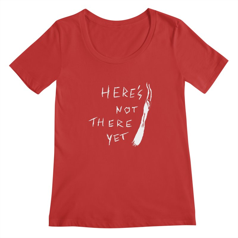 Here's not here yet - Horned Women's Regular Scoop Neck by The Little Fears