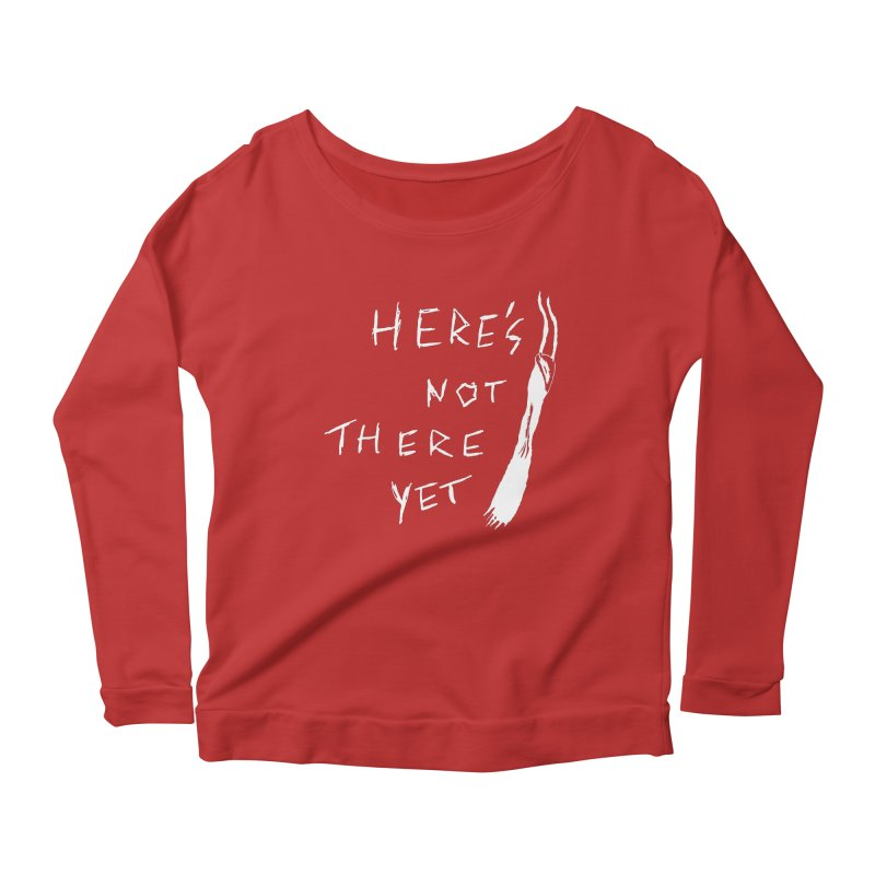 Here's not here yet - Horned Women's Scoop Neck Longsleeve T-Shirt by The Little Fears
