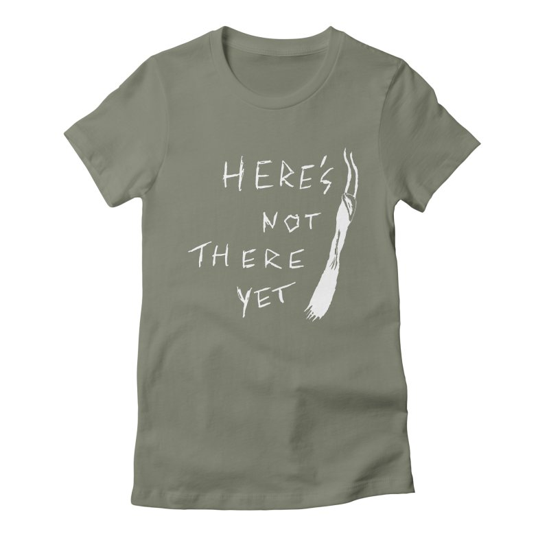 Here's not here yet - Horned Women's Fitted T-Shirt by The Little Fears