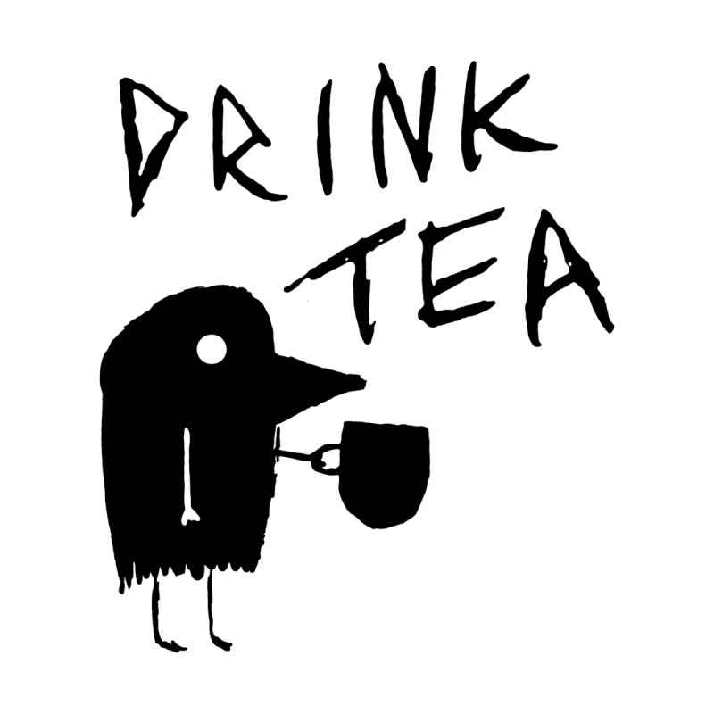 Drink Tea Kids T-Shirt by The Little Fears