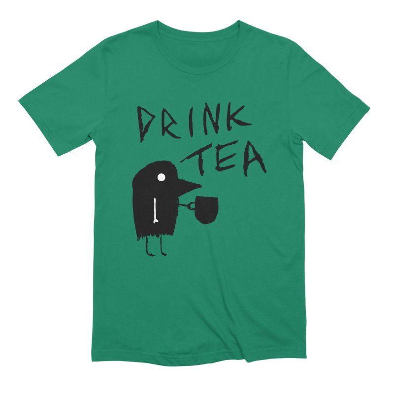 Drink Tea Men's Extra Soft T-Shirt by The Little Fears