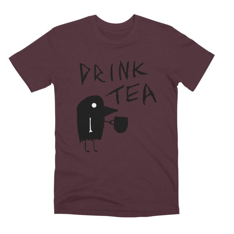 Drink Tea Men's Premium T-Shirt by The Little Fears