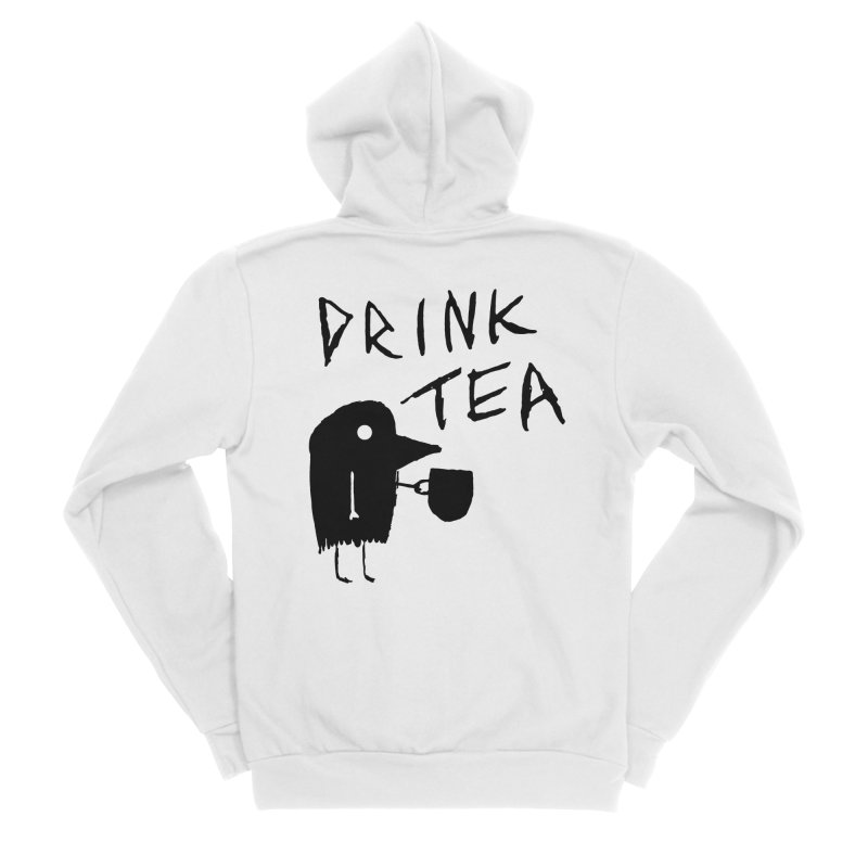 Drink Tea Men's Sponge Fleece Zip-Up Hoody by The Little Fears