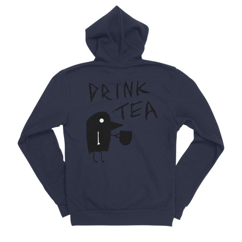 Drink Tea Men's Sponge Fleece Zip-Up Hoody by The Little Fears