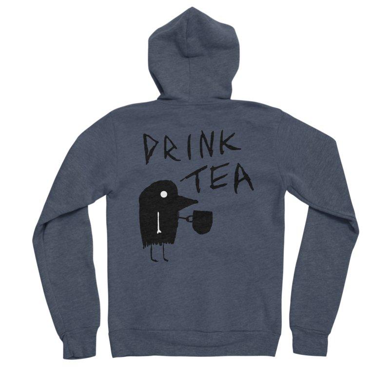Drink Tea Women's Sponge Fleece Zip-Up Hoody by The Little Fears