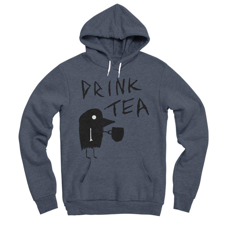 Drink Tea Men's Sponge Fleece Pullover Hoody by The Little Fears