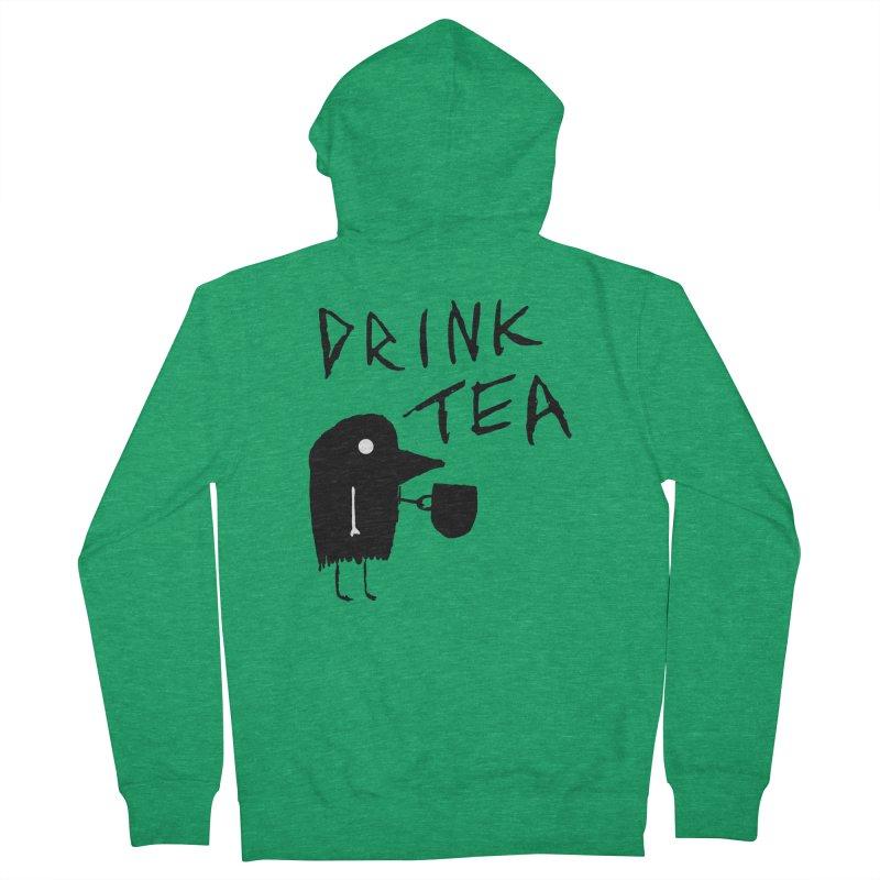 Drink Tea Men's Zip-Up Hoody by The Little Fears