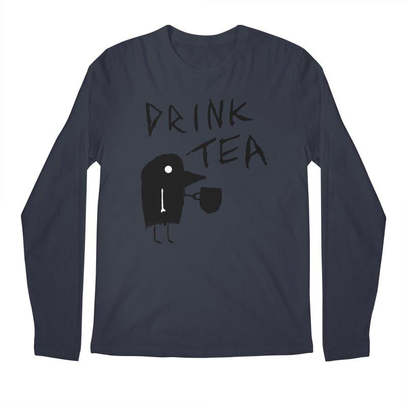 Drink Tea Men's Longsleeve T-Shirt by The Little Fears