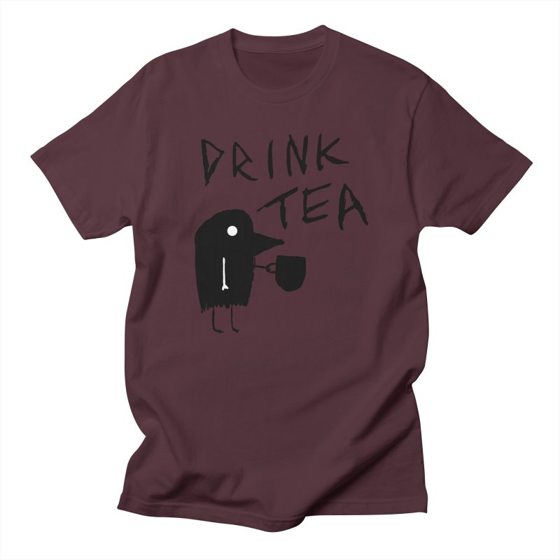Drink Tea Men's T-Shirt by The Little Fears