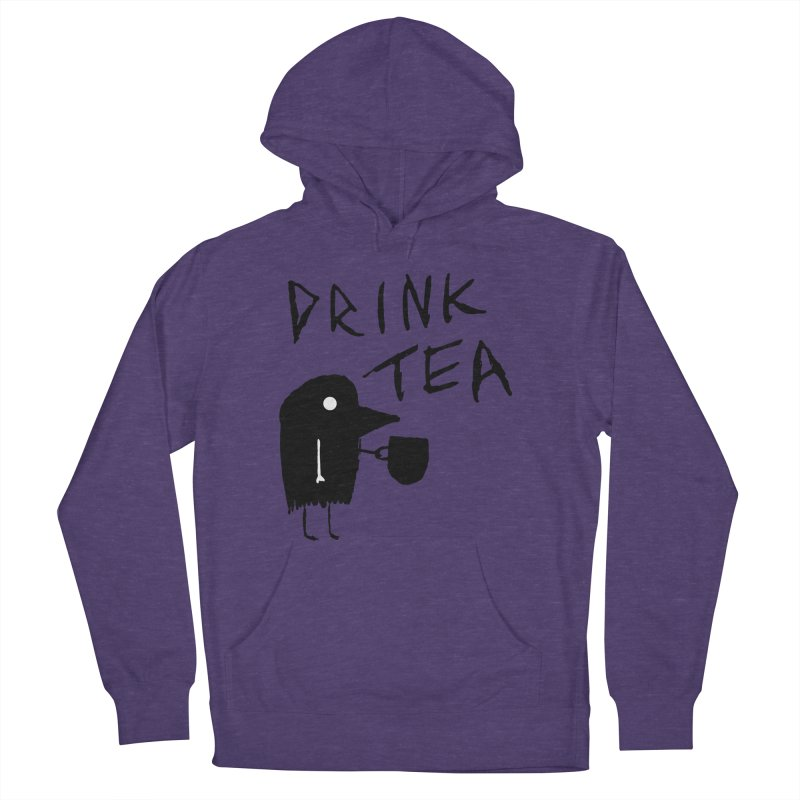 Drink Tea Men's French Terry Pullover Hoody by The Little Fears