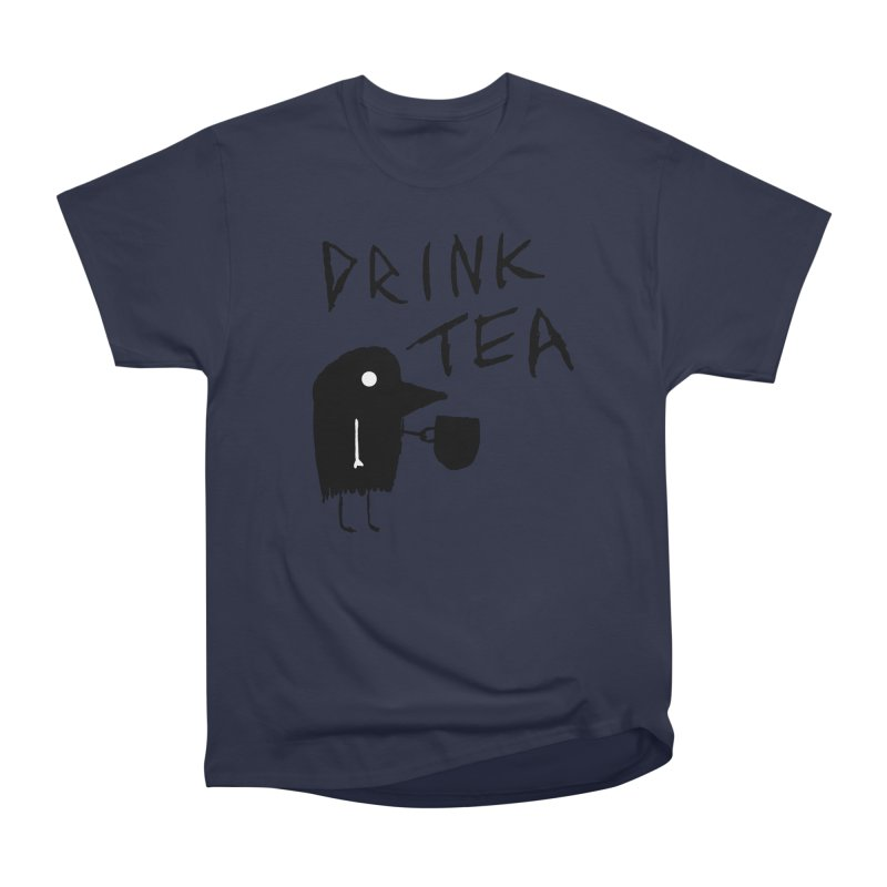 Drink Tea Men's Heavyweight T-Shirt by The Little Fears
