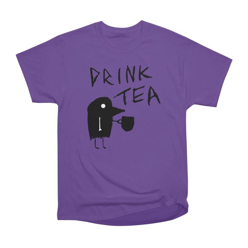 Drink Tea Men's Heavyweight T-Shirt by The Little Fears