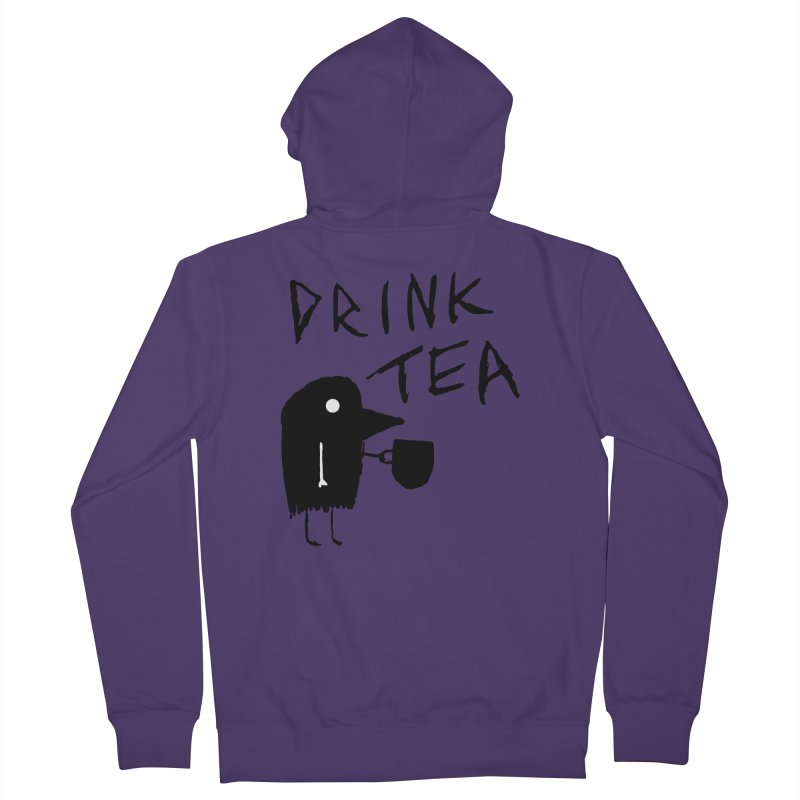 Drink Tea Women's French Terry Zip-Up Hoody by The Little Fears