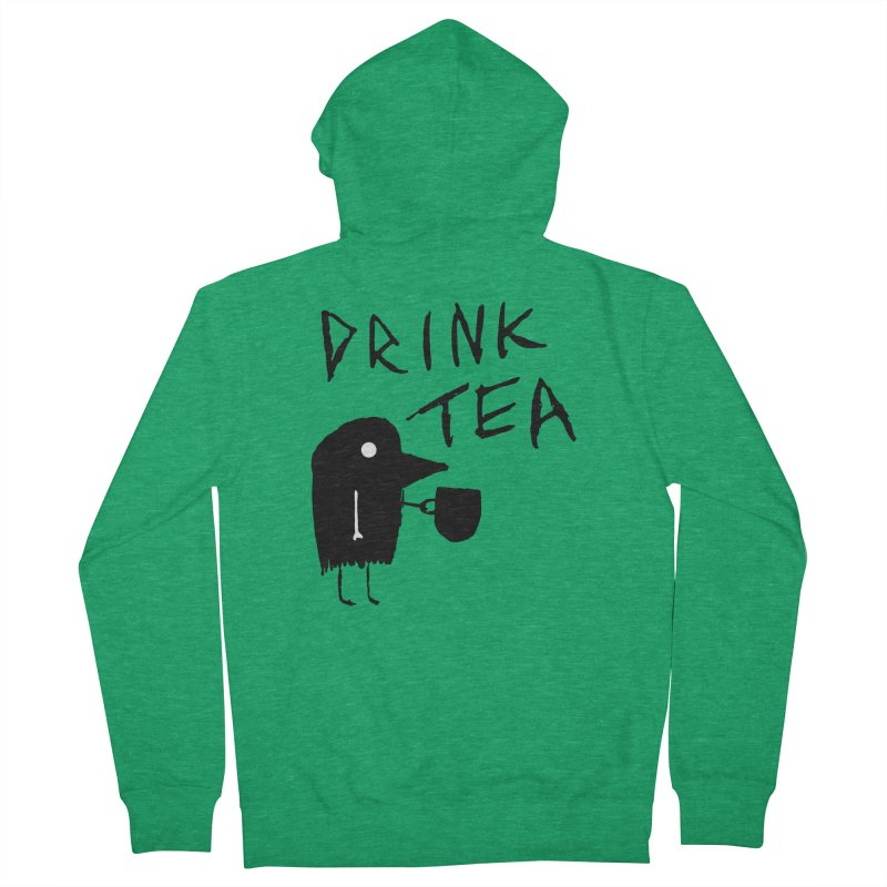 Drink Tea Men's Zip-Up Hoody by The Little Fears