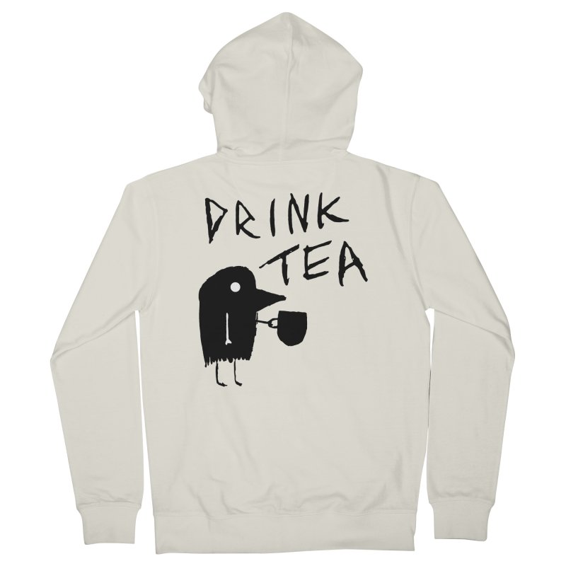 Drink Tea Men's French Terry Zip-Up Hoody by The Little Fears