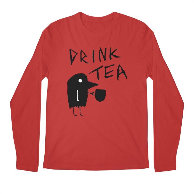 Drink Tea Men's Regular Longsleeve T-Shirt by The Little Fears