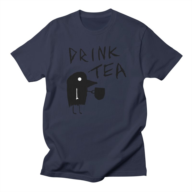 Drink Tea Women's Regular Unisex T-Shirt by The Little Fears