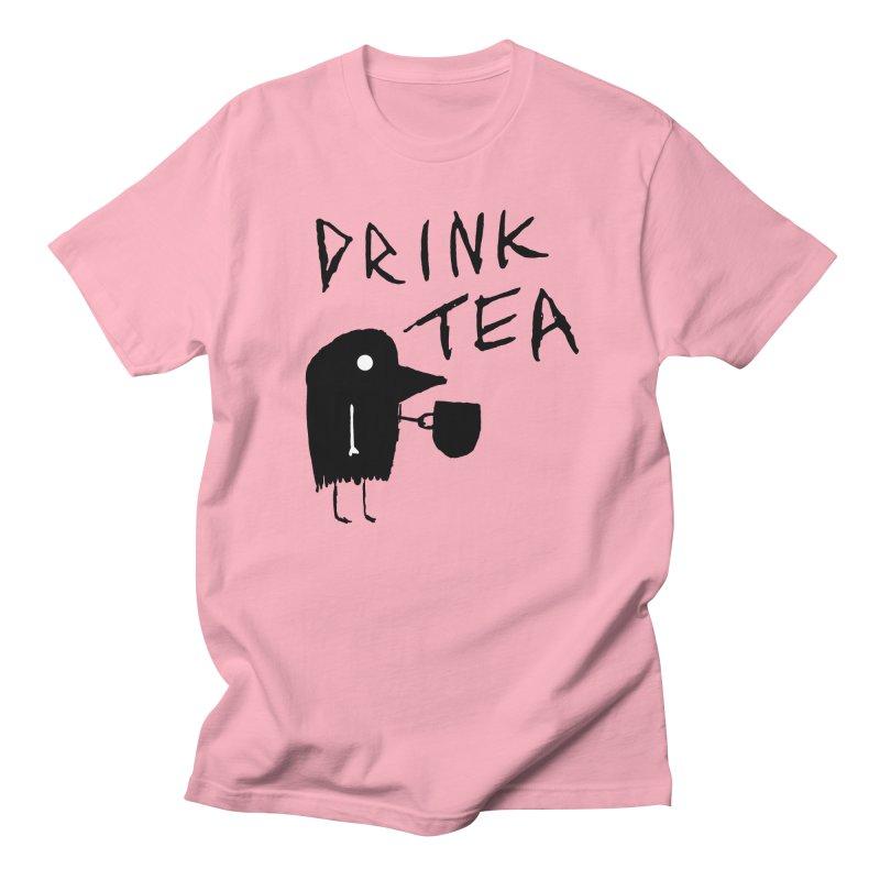 Drink Tea Women's Regular Unisex T-Shirt by The Little Fears