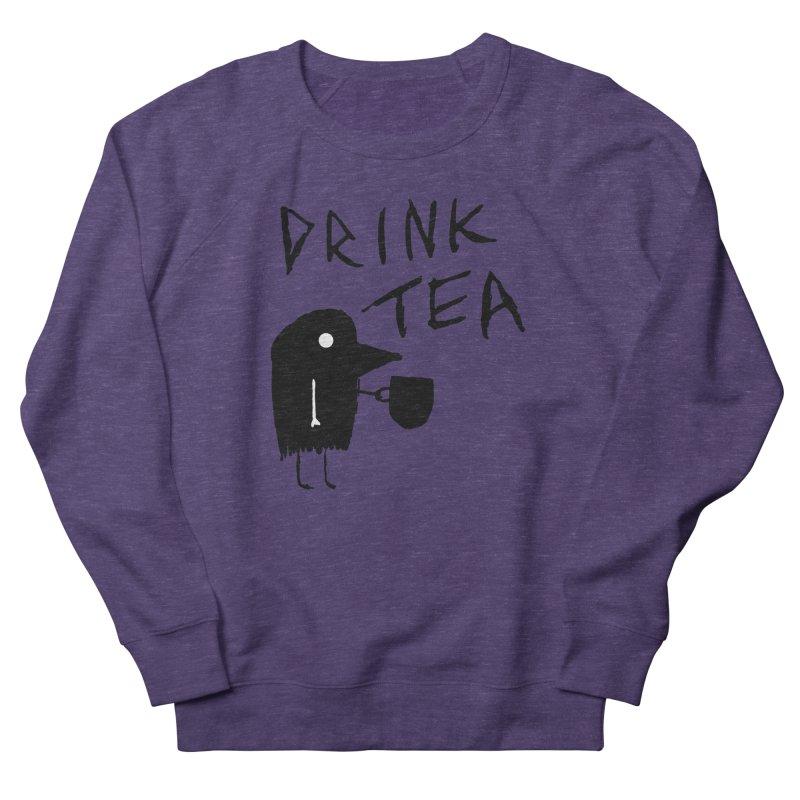 Drink Tea Men's French Terry Sweatshirt by The Little Fears