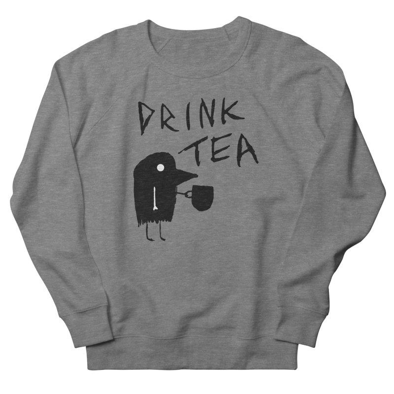 Drink Tea Men's Sweatshirt by The Little Fears