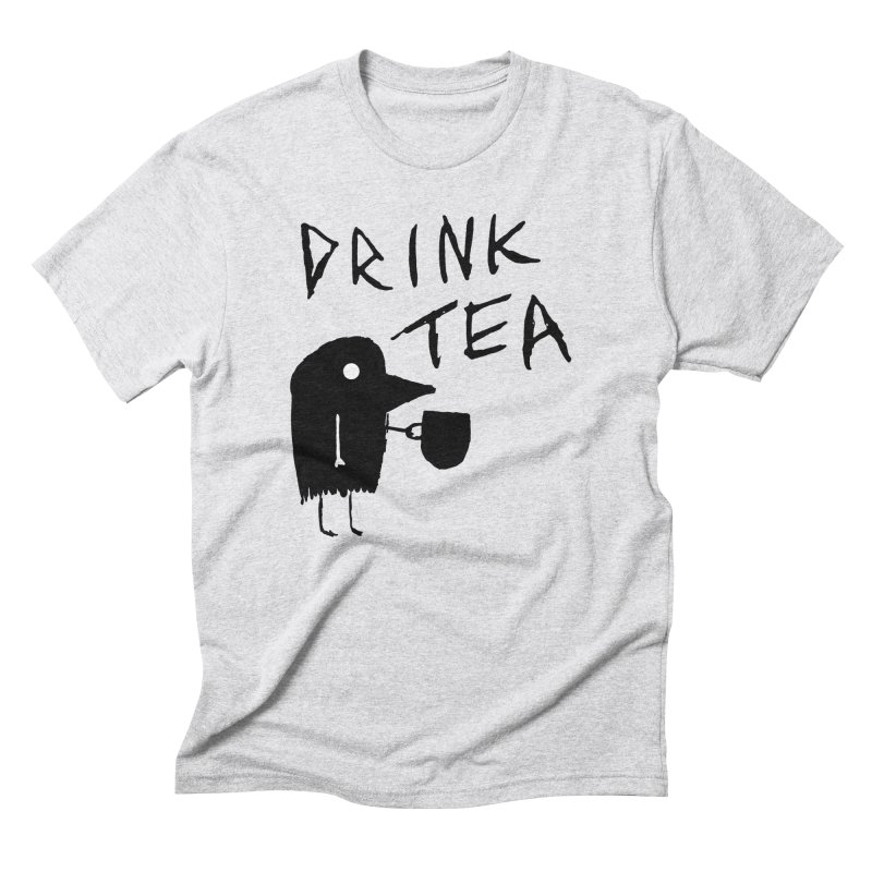 Drink Tea Men's Triblend T-Shirt by The Little Fears