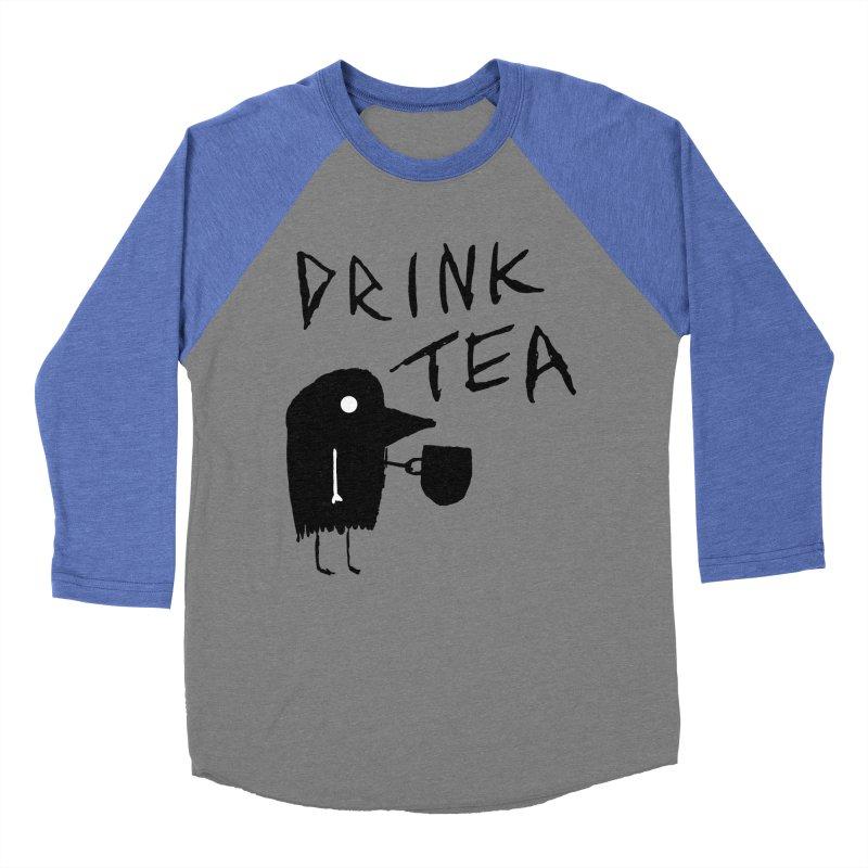 Drink Tea Women's Baseball Triblend Longsleeve T-Shirt by The Little Fears