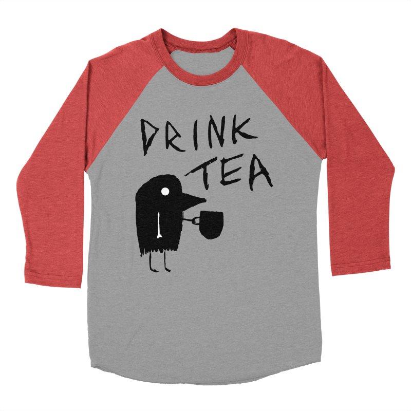 Drink Tea Men's Baseball Triblend Longsleeve T-Shirt by The Little Fears