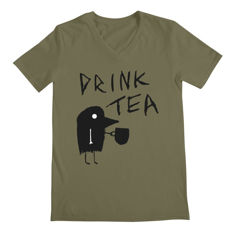 Drink Tea Men's V-Neck by The Little Fears