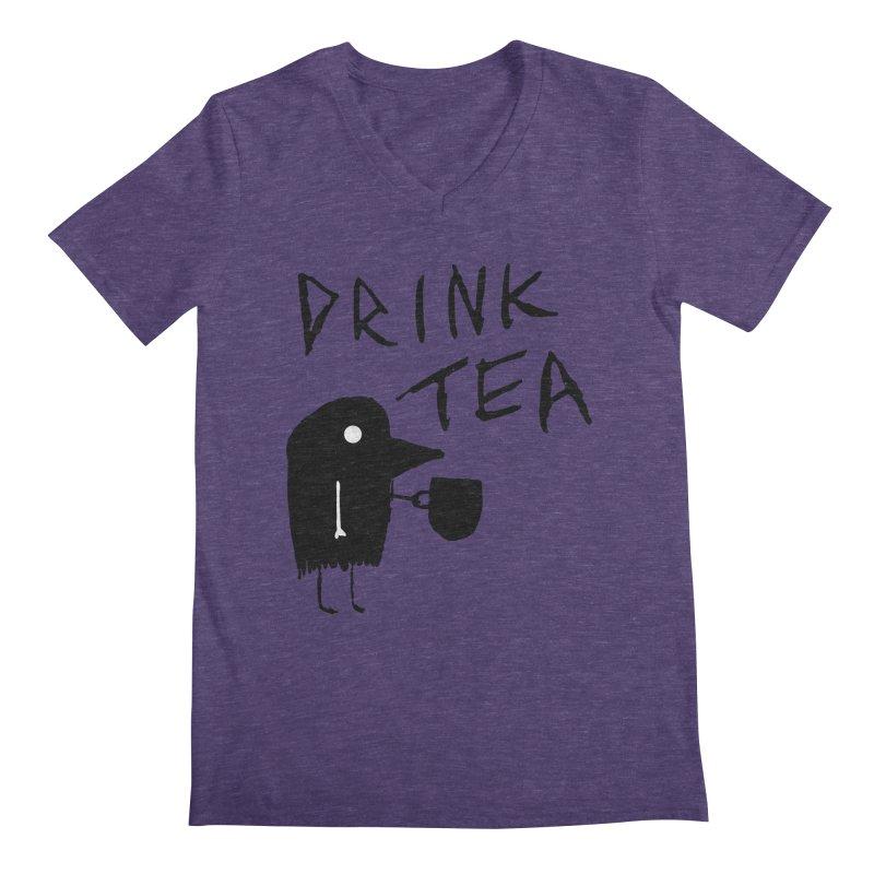 Drink Tea Men's V-Neck by The Little Fears