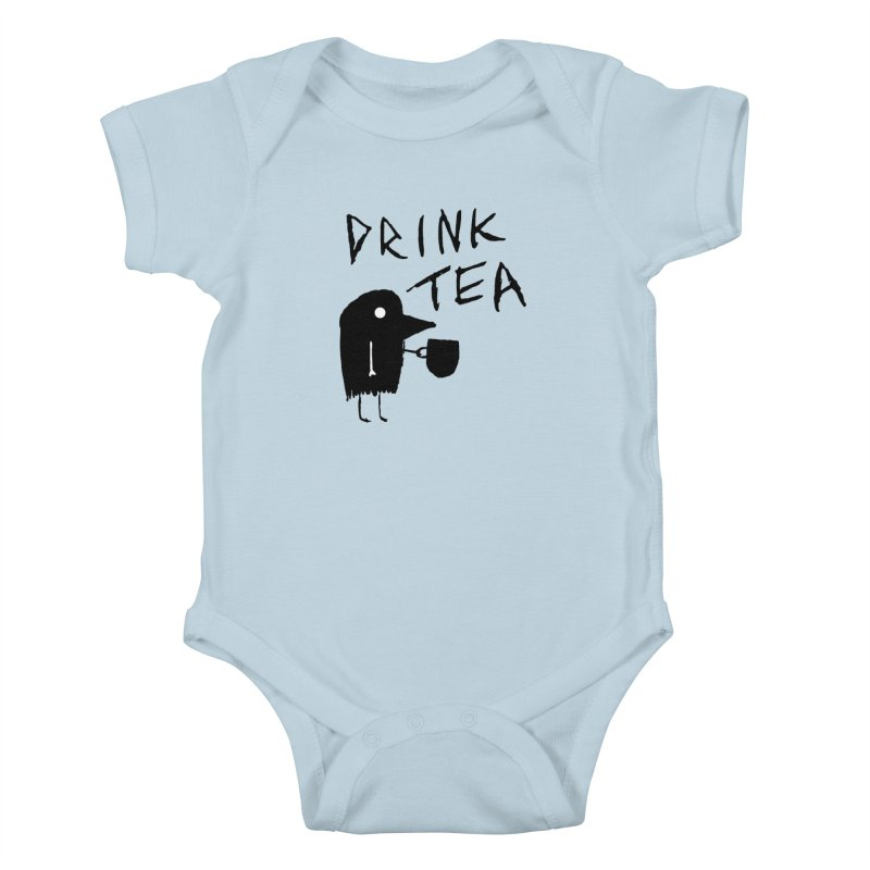 Drink Tea Kids Baby Bodysuit by The Little Fears
