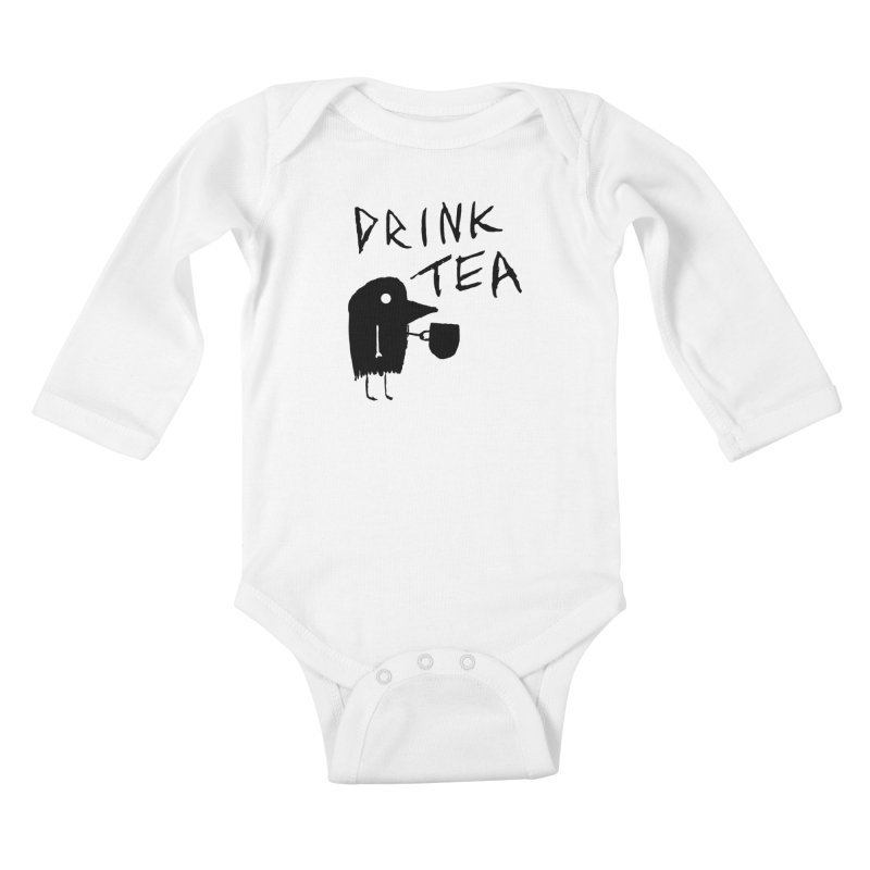 Drink Tea Kids Baby Longsleeve Bodysuit by The Little Fears