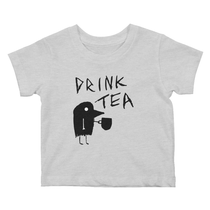 Drink Tea Kids Baby T-Shirt by The Little Fears