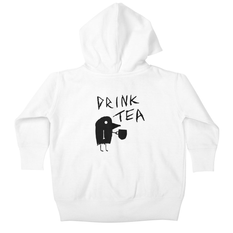 Drink Tea Kids Baby Zip-Up Hoody by The Little Fears