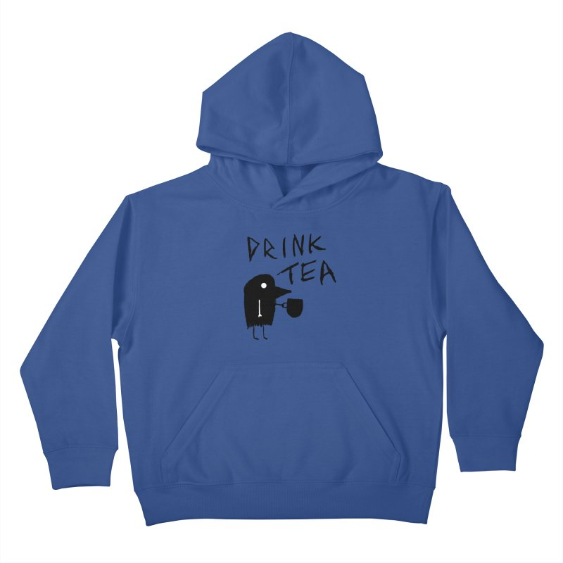 Drink Tea Kids Pullover Hoody by The Little Fears