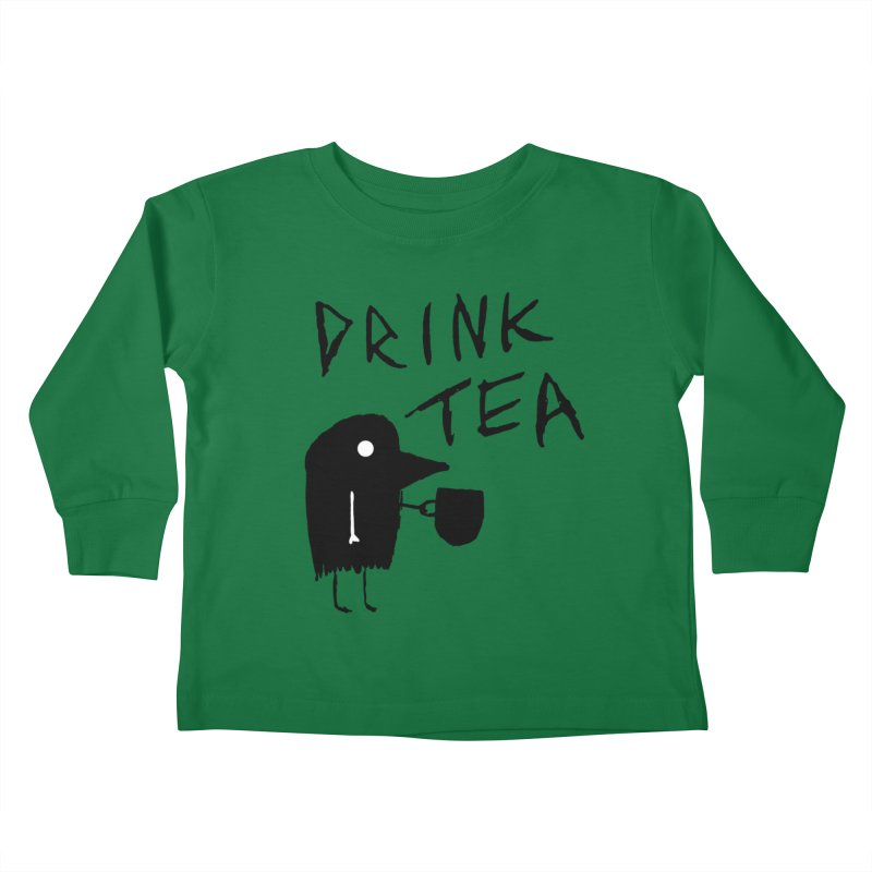 Drink Tea Kids Toddler Longsleeve T-Shirt by The Little Fears